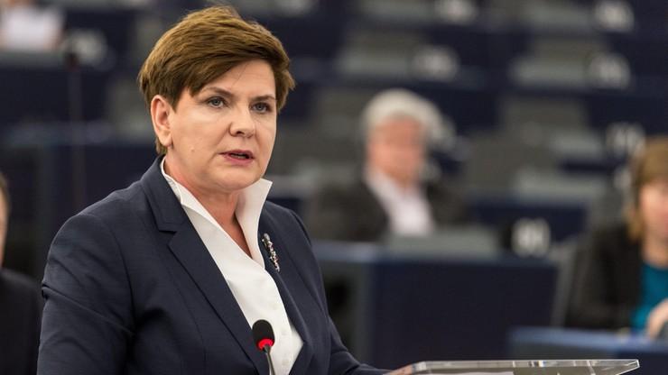Premier Szydło w PE: nowy rząd podejmuje decyzje zgodnie z prawem, szanując konstytucję, ustawy, traktaty europejskie