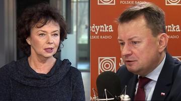 Błaszczak ogłosił koniec komunizmu. Szczepkowska odpowiedziała mu: Towarzyszu Ministrze, grabarzu demokracji