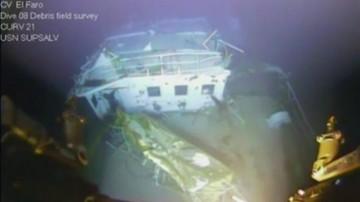 """26-04-2016 22:59 Odnaleziono rejestrator danych z zaginionego kontenerowca """"El Faro"""""""