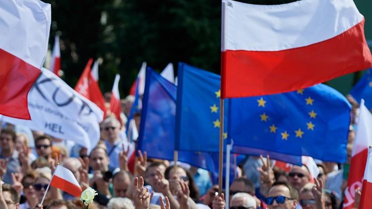 Uszkodzona elewacja sądu po protestach w Gdańsku. Wszczęto postępowanie