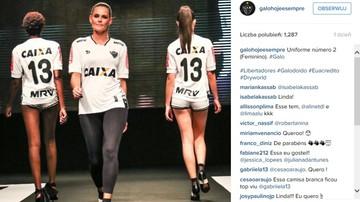 2016-02-17 Brazylijskie modelki pokazały nowe stroje Atletico Mineiro