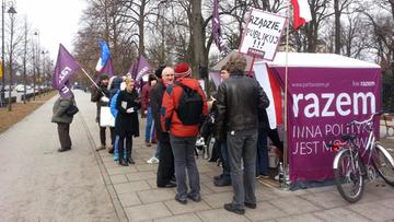 11-03-2016 11:52 Szef OPZZ poparł protest partii Razem ws. publikacji wyroku TK