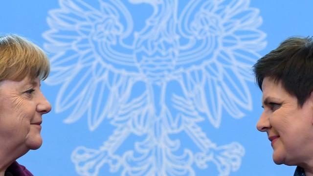 Szydło i Merkel w Warszawie o współpracy Polski i Niemiec w UE