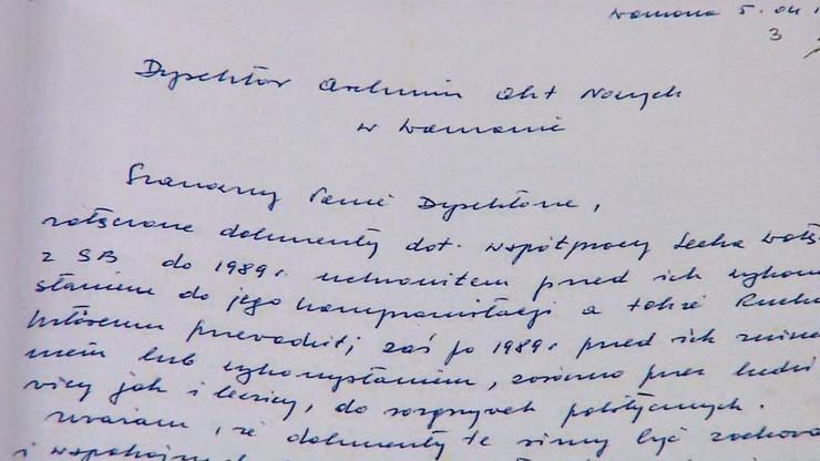 Kiszczak chciał publikacji teczek 5 lat po śmierci Wałęsy