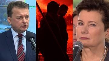 11-11-2016 22:18 Błaszczak kontra Gronkiewicz-Waltz: różne dane o liczbie uczestników marszów