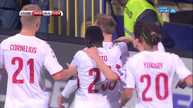 Piękny strzał Eriksena! Lider dał Danii prowadzenie w Czarnogórze
