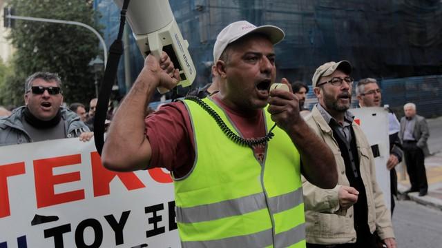 Grecja: strajk generalny, demonstracja w Atenach