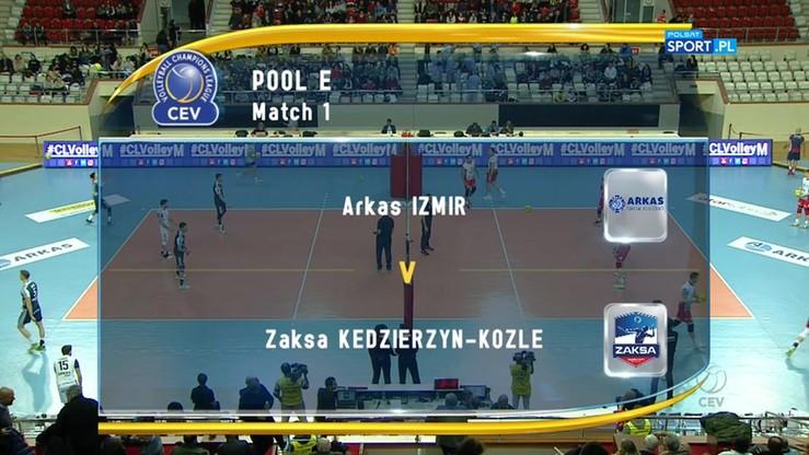 Arkas Izmir - ZAKSA Kędzierzyn-Koźle 0:3. Skrót meczu