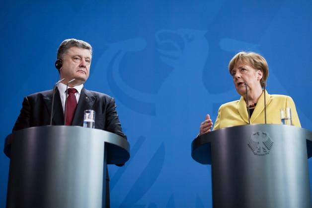 Merkel wspiera Ukrainę. Poroszenko w Berlinie