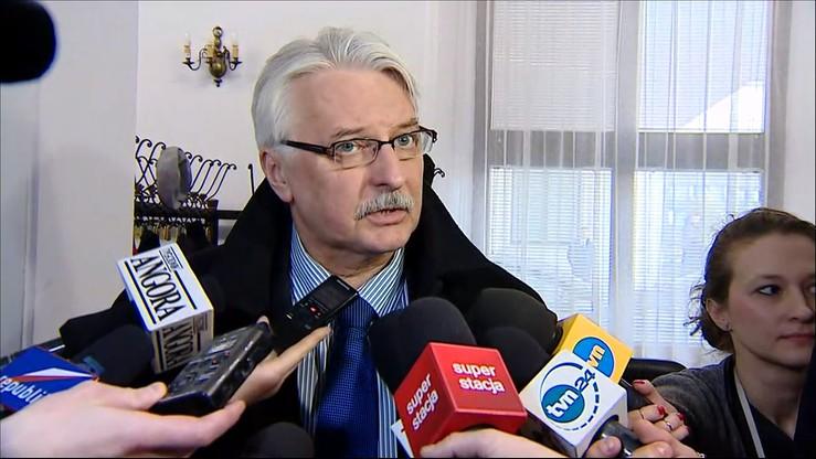 Waszczykowski: chcemy uregulować sprawy sąsiedzkie z Białorusią