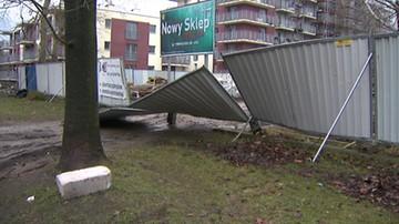 Zerwane dachy i linie energetyczne. Silny wiatr w całej Polsce