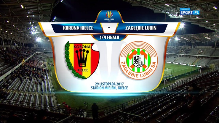 Korona Kielce - Zagłębie Lubin 2:0. Skrót meczu