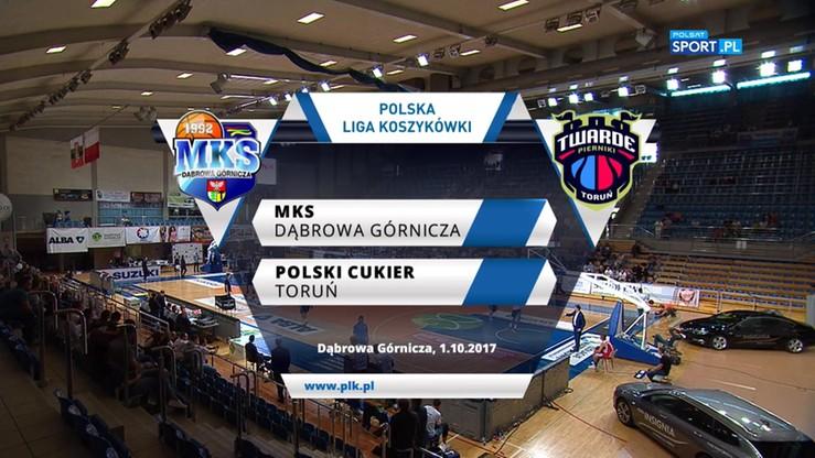 MKS Dąbrowa Górnicza – Polski Cukier Toruń 89:76. Skrót meczu