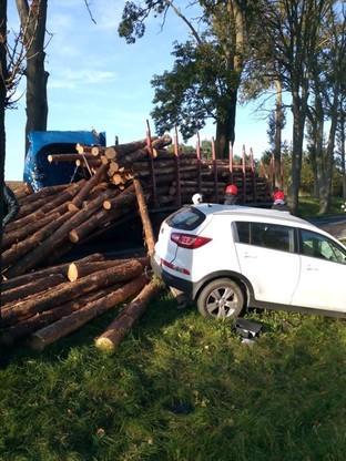 Po wypadku droga ze Sztumu do Kwidzyna była zablokowana przez kioka godzin.