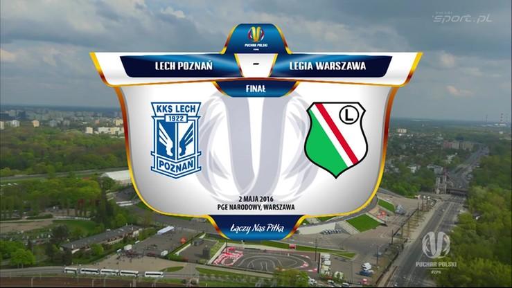 Finał Pucharu Polski: Lech Poznań - Legia Warszawa 0:1. Skrót meczu