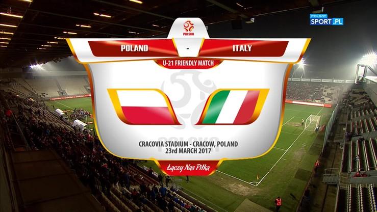 Polska U-21 - Włochy U-21 1:2. Skrót meczu