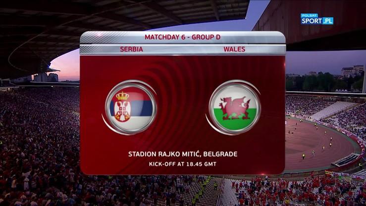 Serbia - Walia 1:1. Skrót meczu