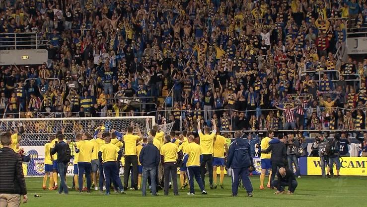 2016-05-10 Arka w Ekstraklasie! Radość po meczu