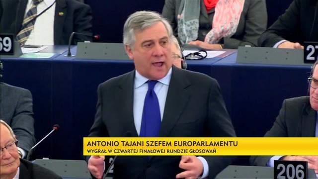 Antonio Tajani szefem Europarlamentu - wygrał w czwartej finałowej rundzie głosowań