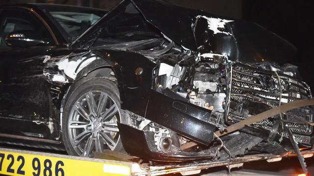 Zarzuty dla kierowcy, który doprowadził do zderzenia z kolumną premier