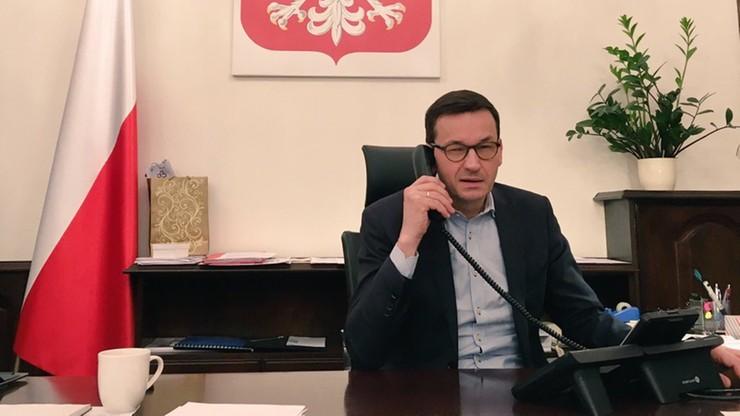 Premier Morawiecki rozmawiał z wiceprezydentem USA Mike'em Pence'em