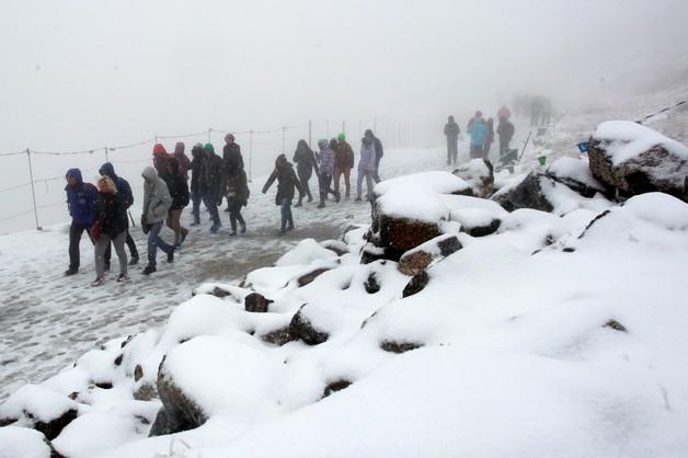 W Tatrach spadł pierwszy śnieg
