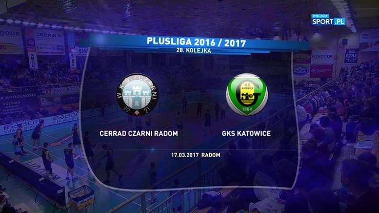 Cerrad Czarni Radom - GKS Katowice 2:3. Skrót meczu