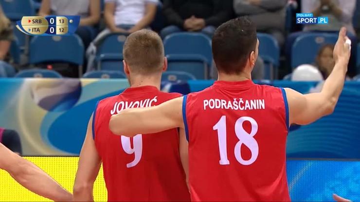 Serbia - Włochy 3:2. Skrót meczu