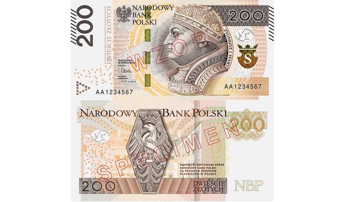 Jaśniejszy, ładniejszy i bezpieczniejszy. Zmodernizowany banknot 200 zł od piątku w obiegu. NBP zapowiada banknot 500 zł