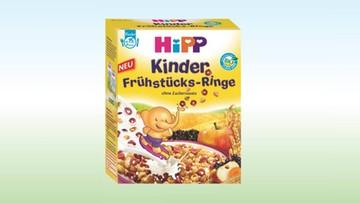 2016-10-13 HiPP wycofuje kółeczka śniadaniowe dla niemowląt. W opakowaniu może być metal