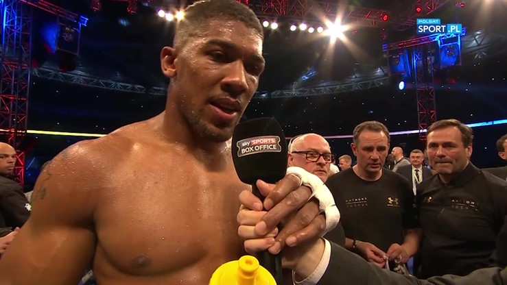 2017-04-30 Joshua: Wyzywam Fury'ego! Chcę kolejnej walki na Wembley