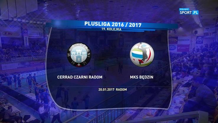 2017-01-20 Cerrad Czarni Radom - MKS Będzin 3:1. Skrót meczu