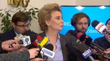 """18-11-2016 18:13 Zarzuty dla prezydent Łodzi. Kredyty i poświadczenia nieprawdy. Zdanowska: """"Jestem niewinna"""""""