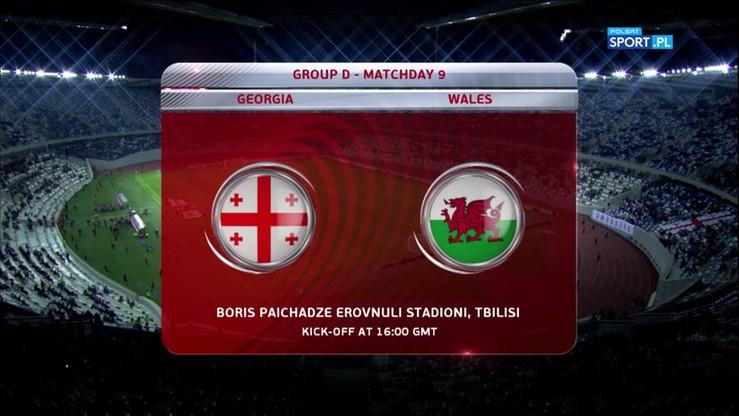 2017-10-06 El. MŚ 2018: Gruzja - Walia 0:1. Skrót meczu