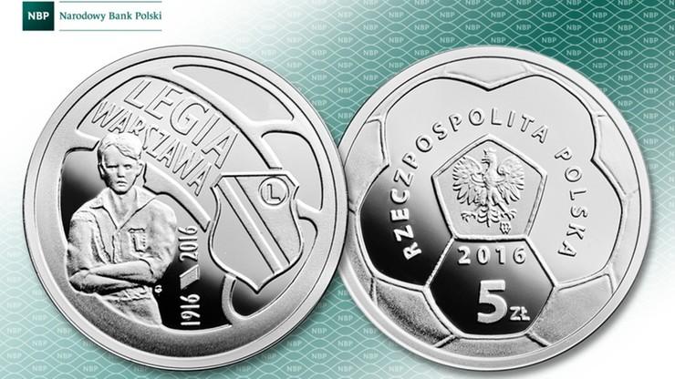 W poniedziałek ukaże się srebrna pięciozłotówka poświęcona Legii Warszawa