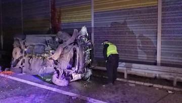 12-10-2017 14:53 Tragiczny wypadek na S8. Zginął pasażer busa