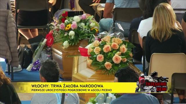 Żałoba narodowa we Włoszech. Pierwszy pogrzeb ofiar trzęsienia ziemi