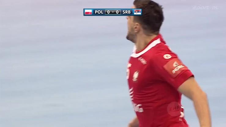 2016-01-15 Michał Jurecki MVP meczu z Serbią! Wszystkie siedem bramek naszego lidera