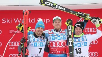 2017-02-26 Alpejski PŚ: Fill wygrał supergigant, Jansrud z małą Kryształową Kulą