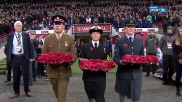 2016-11-11 Czerwone maki na Wembley, czyli Brytyjczycy uczcili pamięć weteranów (WIDEO)