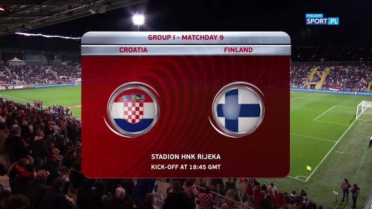 2017-10-07 El. MŚ 2018: Chorwacja - Finlandia 1:1. Skrót meczu