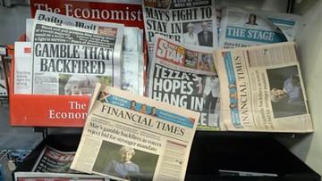 10-06-2017 13:50 Brytyjskie media krytykują premier May i spekulują o jej przyszłości