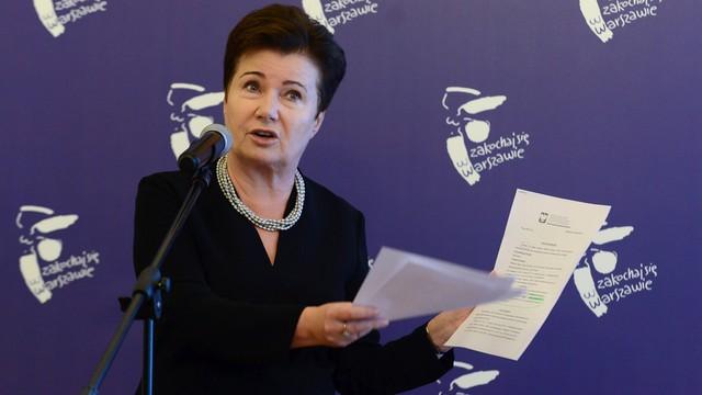 Gronkiewicz-Waltz: to komisja weryfikacyjna wskazała, że grzywnę ma zapłacić organ, nie osoba