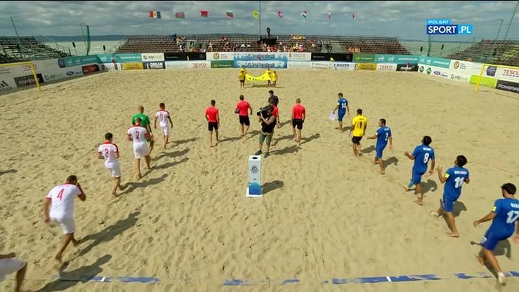 Beach soccer: Polska - Azerbejdżan 5:4. Skrót meczu