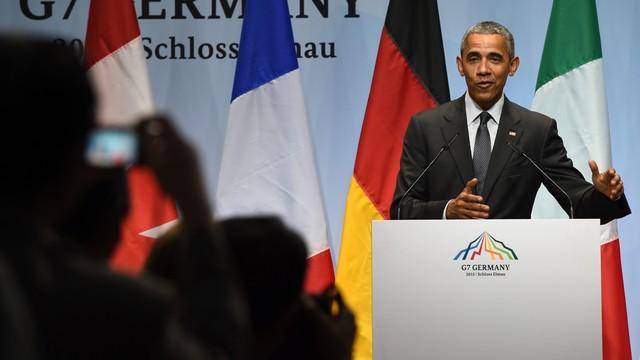 Obama: kraje G7 popierają Ukrainę
