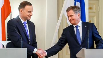 """Prezydent Duda z wizytą w Finlandii. """"Łącza nas wspólne więzi i interesy"""""""