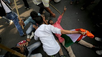 18-02-2016 14:20 Wielki strajk studentów w Indiach. Żądają uwolnienia przywódcy