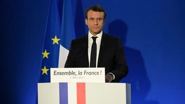 """07-05-2017 21:37 """"Będę walczył z podziałami, które nas niszczą"""". Macron w pierwszym przemówieniu po zwycięstwie"""