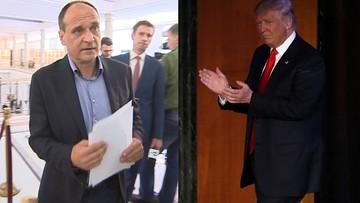 """09-11-2016 14:26 Kukiz pisze do Trumpa. Gratuluje """"zwycięstwa przeciwko korupcji politycznej elit"""""""