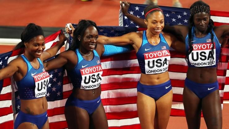 Lekkoatletyczne MŚ: Triumf Amerykanek w sztafecie 4x100 m